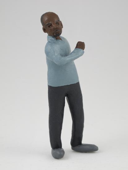 Charles McGill - painted miniature portrait figure by Matt Ferranto