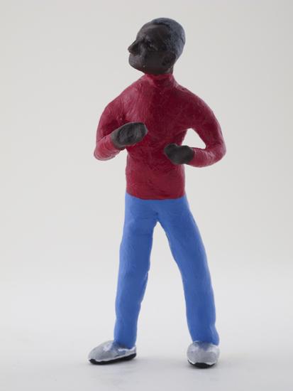 Dale Rubin - painted miniature portrait figure by Matt Ferranto
