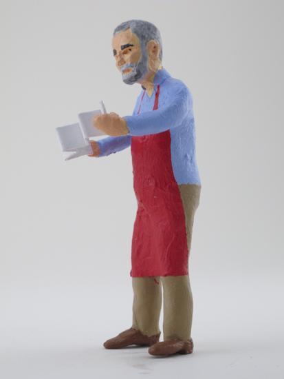 Ed Hutchins - painted miniature portrait figure by Matt Ferranto