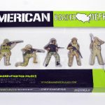 "closed box of ""American Border Defenders,"" boxed set with five painted figures by Matt Ferranto"