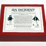 "closed box of ""An Incident near Orlando,"" boxed set with two painted figures plus accessories by Matt Ferranto"