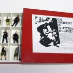 "opened box of ""An Incident at Staten Island,"" boxed set with thirteen painted figures by Matt Ferranto"