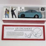 "open box of ""An Incident near Pleasantville,"" boxed set with two painted figures, car, and accessories by Matt Ferranto"