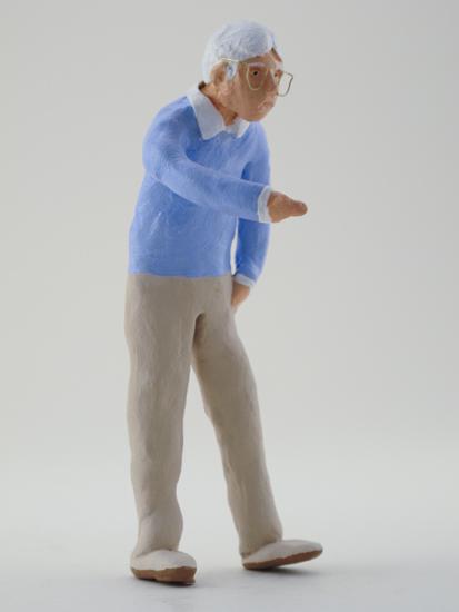 George Guffey - painted miniature portrait figure by Matt Ferranto
