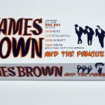 "closed box of ""James Brown and the Famous Flames,"" boxed set with five painted figures plus accessories by Matt Ferranto"