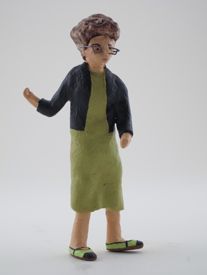 Johanna Drucker - painted miniature portrait figure by Matt Ferranto