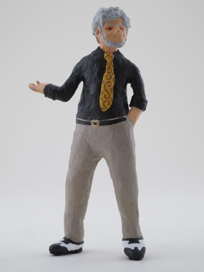 John Held Jr. - painted miniature portrait figure by Matt Ferranto