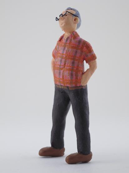 Knute Wallgren - painted miniature portrait figure by Matt Ferranto