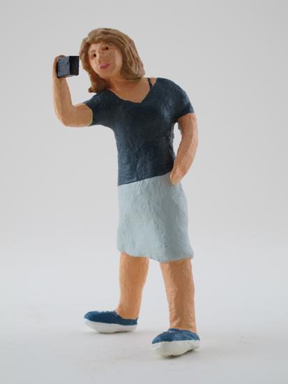 Melody Owen - painted miniature portrait figure by Matt Ferranto