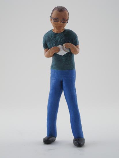 Dave Nichols - painted miniature portrait figure by Matt Ferranto