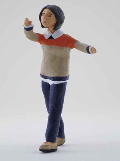 Nicole Tschampel - painted miniature portrait figure by Matt Ferranto
