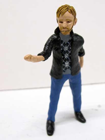 Peter Rutkowski - painted miniature portrait figure by Matt Ferranto