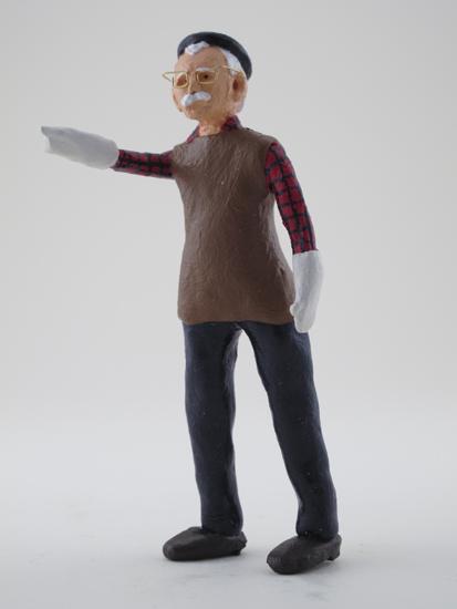 Phil Listengart - painted miniature portrait figure by Matt Ferranto
