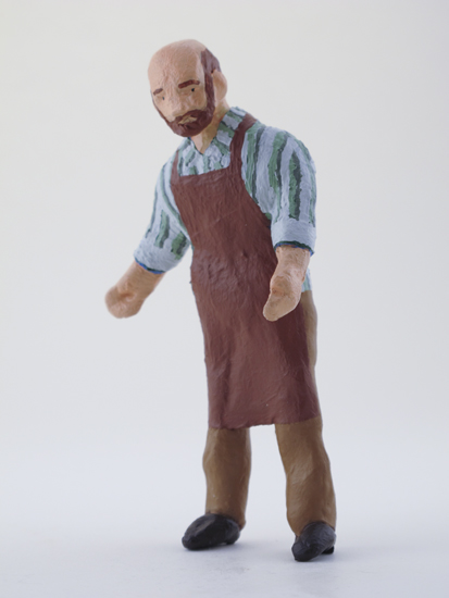 Robert Hess - painted miniature portrait figure by Matt Ferranto