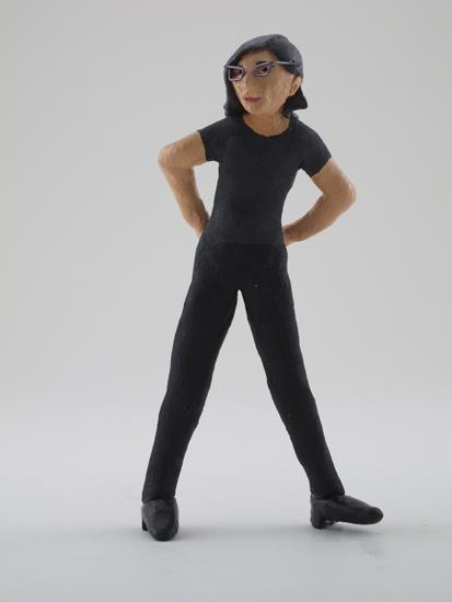 Sharon Louden - painted miniature portrait figure by Matt Ferranto