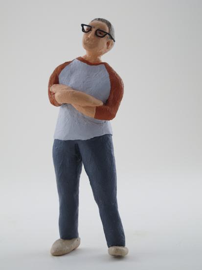 Shawn Powell - painted miniature portrait figure by Matt Ferranto