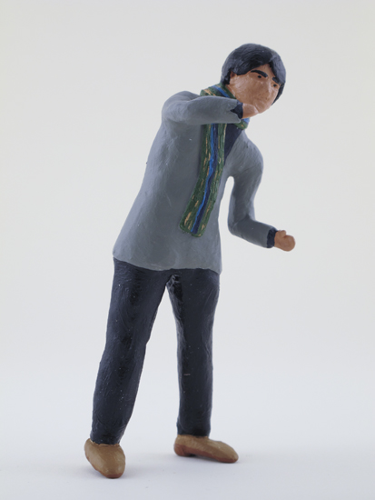 Shoji Kato - painted miniature portrait figure by Matt Ferranto