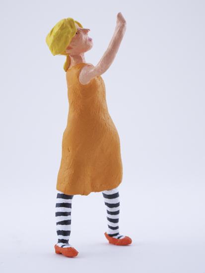 Sandra Loy - painted miniature portrait figure by Matt Ferranto