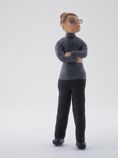 Terri Hopkins - painted miniature portrait figure by Matt Ferranto