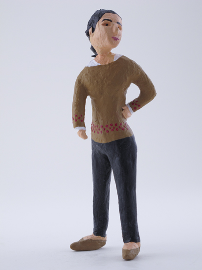 Txaro Arrazola - painted miniature portrait figure by Matt Ferranto
