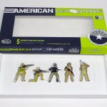 "open box of ""American Border Defenders (Arizona Border Recon),"" boxed set with five painted figures by Matt Ferranto"