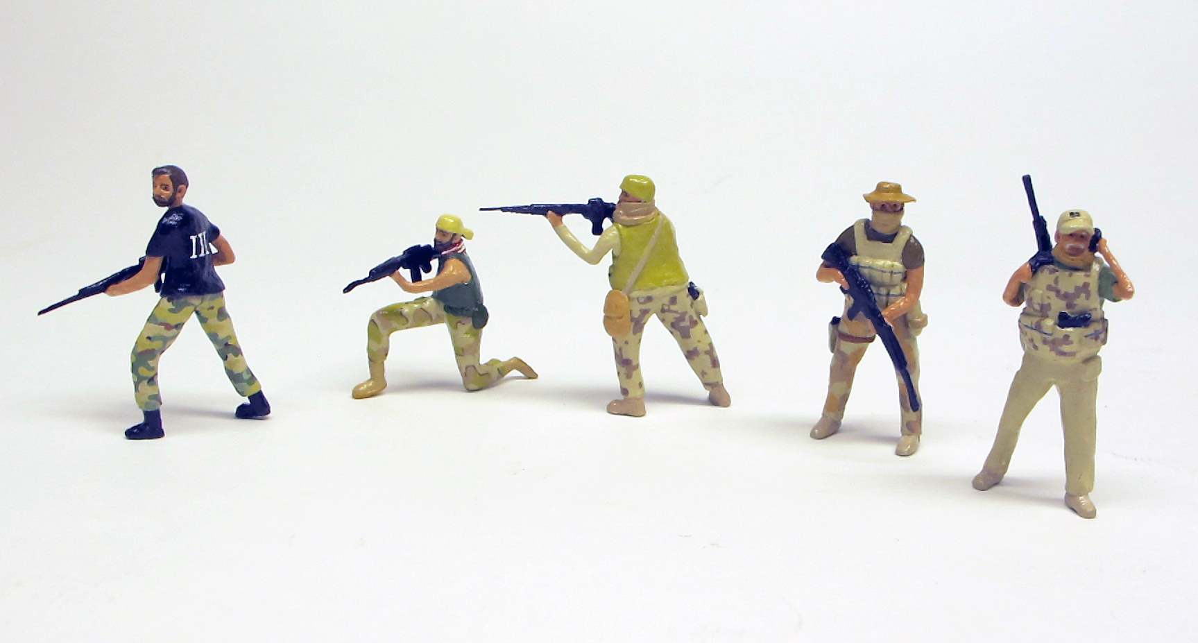 "detail of ""American Border Defenders (Arizona Border Recon),"" boxed set with five painted figures by Matt Ferranto"