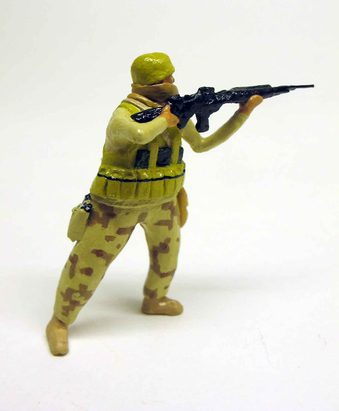 """detail of """"American Border Defenders (Arizona Border Recon),"""" boxed set with five painted figures by Matt Ferranto"""
