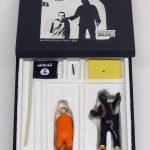 "open box of ""A Happening at an Undisclosed Location in Syria,"" boxed set with two miniature painted figures plus accessories by Matt Ferranto"