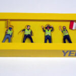 "closed box of ""Yellow Vests (Gilets Jaunes),"" boxed set with six painted figures by Matt Ferranto"